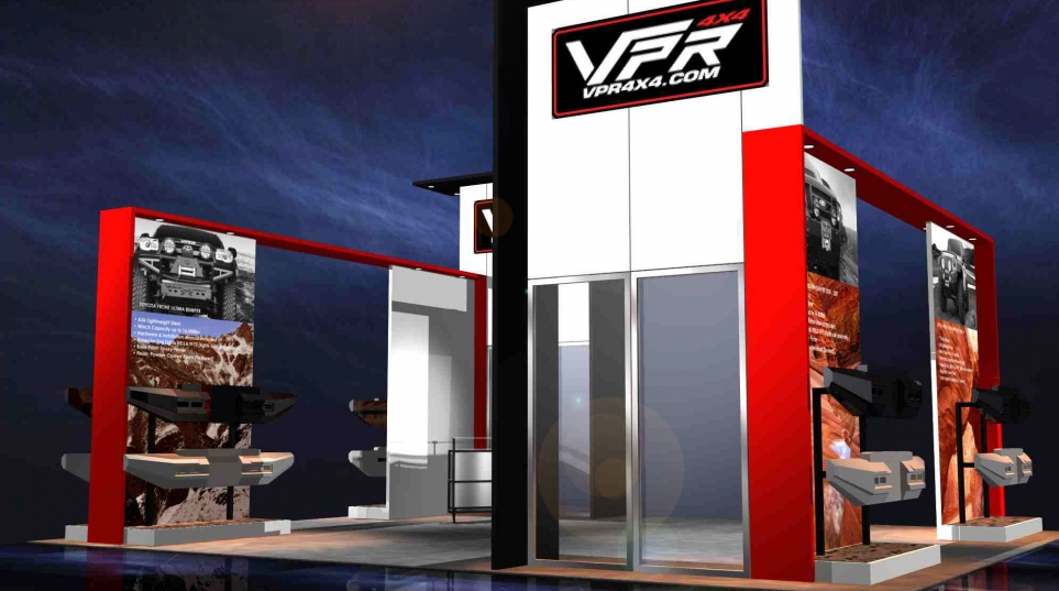 DF Client: VPR 4×4: Custom 20×30 Rental Exhibit