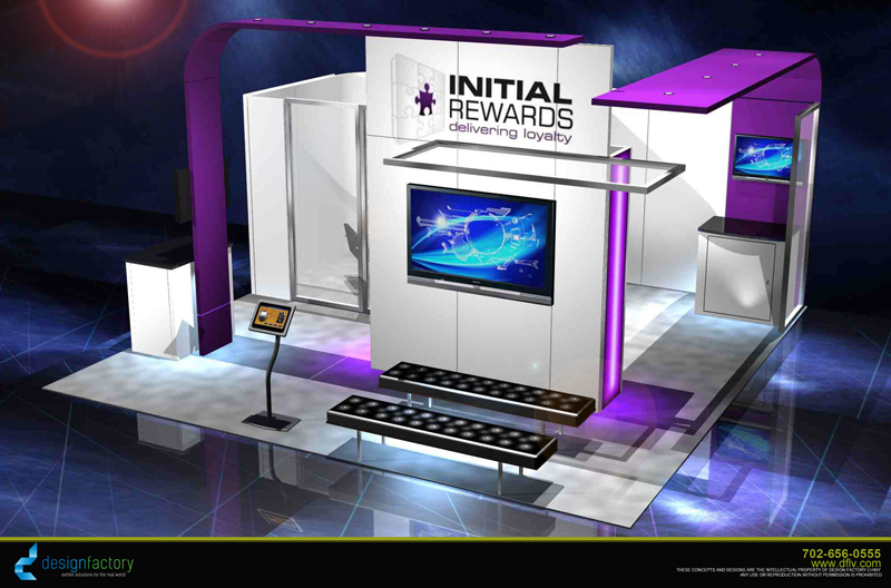 Initial Rewards Trade Show Booth Design